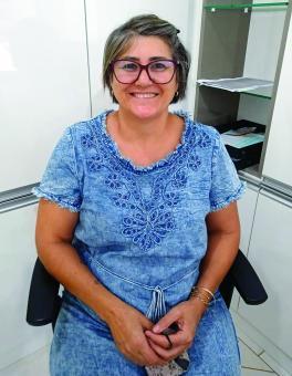 Sandra Elisa Viecelin Caumo na Secretaria da Saúde